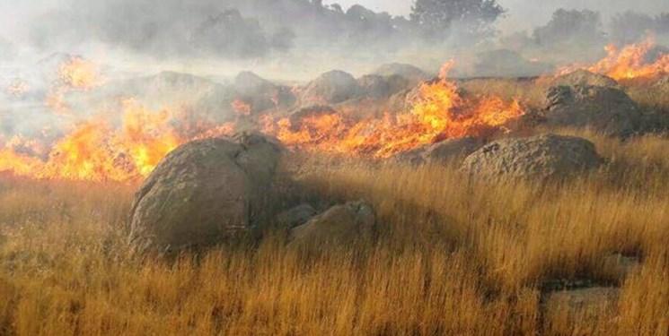 آتشسوزی مراتع فیروزآباد را تهدید میکند